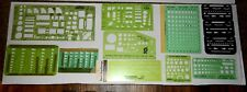Rare Lot of Vintage Templates Pickett, Rapidesign for Architect, Drafting