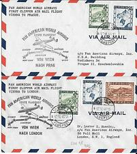 AUSTRIA-FAM 18 first flights (May 17, 1946)- 6 including 2 duplicates (PAN AM Cl