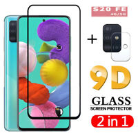 2IN1 For Samsung Galaxy S20 FE 5G Tempered Glass Screen Protector & Lens Film