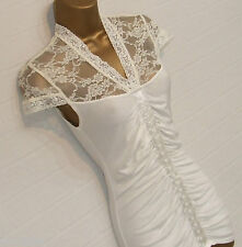 BNWT JANE NORMAN Cream Lace Top Ruched Body Mock Hook n Eye Corset Small Size 10