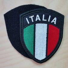 Patch Toppa Stemma ITALIA Ricamato Scudetto cm 7cm X 9cm. Con Velcro cucito