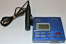 Sony MZ-R90 Portable MiniDisc Recorder/Player in Blue with Remote.