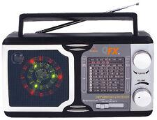 Qfx Portable Ac/Dc/Fm/Am/Sw1-Sw9 Shortwave Radio Disco Light Speaker R14 Ac Cord