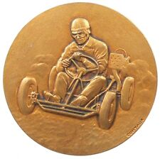 France sports GO-CART RACING gilt-bronze 50mm by Contaux