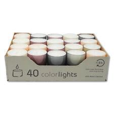 Teelichter im farbigen Acryl Cup Pastell Edition ca. 8 Std Brenndauer Wenzel Neu