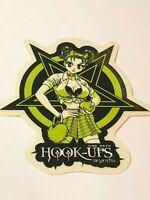 Hook Ups HOOK-UPS Vintage Skateboard Sticker, Original, Genuine Series 2079619
