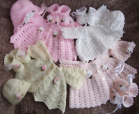 CROCHET PATTERN TO MAKE *FOUR LITTLE CHERUBS* PREM BABY