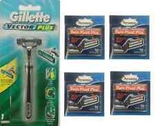 Gillette Vector Plus Razor + 40 Personna Twin Pivot Plus Cartridges