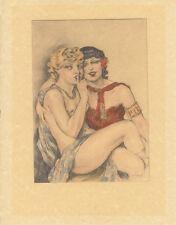 Edouard Chimot Modern Reprint - Courtisanes #1 - Ready to frame