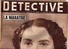 DETECTIVE N°612 mars 1958  L'empoisonneuse de Nimes, Rino Ferrari