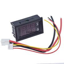 Ammeter Gauge 10A LED Digital Volt Amp Voltmeter Dual 0-100V Red DC Panel NEW