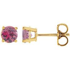 Pink Tourmaline Earrings In 14K Yellow Gold (2.50mm)