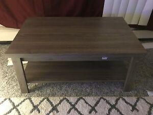 Coffee Table Home Living Room Furniture Stylish Sturdy Storrage Rustic Oak