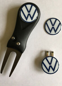 Volkswagen Flick Pitchfork and Golf  Hat Clip and Marker - FREE UK P&P