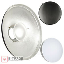 "SILVER 16.5"" Beauty Dish, Honeycomb Grid, Diffuser - with Bowens S Type Mount"