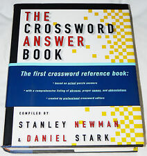The Crossword Answer Book by Daniel Stark and Stanley Newman (1996, hardcover)