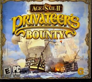 AGE OF SAIL II 2 Computer Game (Privateer's Bounty, PC CD-ROM, WIN XP) pirates