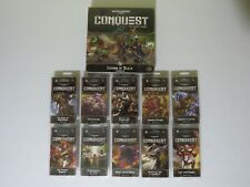 Warhammer 40,000 Conquest LCG Legions of Death Expansion and 10x War Packs 40k