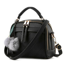 Ladies Women Large Capacity Shoulder Bag PU Leather Tote Handbag Travel Shopping