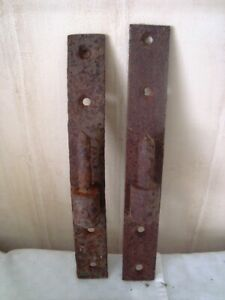 2 Vintage French Cranked Hook Gate / Door Hinges