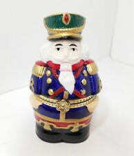 SALE ❀ڿڰۣ❀ MR CHRISTMAS Porcelain NUTCRACKER SOLDIER Hinged Musical TRINKET BOX
