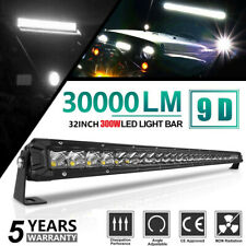 32inch 300W Led Light Bar Single-Row Spot Flood Combo Work UTE Truck SUV ATV 4WD
