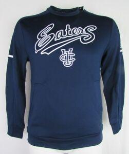 UC Irvine Anteaters NCAA Men's Navy adidas Climawarm Pullover Crewneck