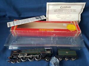 HORNBY R507 BR GREEN 4-6-2 BRITANNIA CLASS ROYAL TRAIN DUTIES LTD ED MINT BOXED