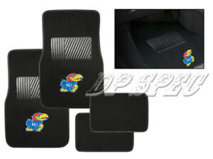 KU UNIVERSITY OF KANSAS JAYHAWKS NCAA 4PCS CARPET FLOOR MATS FOR TOYOTA