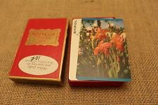 Vintage Nouvelle Mid Century Playing Cards Flowers Tulips Bridge
