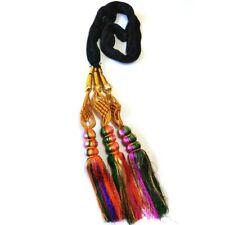 Onex Long Length Paranda Parandi Hair Accessory Braid Tassles (Multicolor Red)