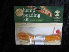 Orange & Natural HEMP Macrame Choker Kit Ecolution