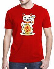 Gbond Apparel Maneki-Neko Japanese Beckoning Welcoming Lucky Cat T-Shirt