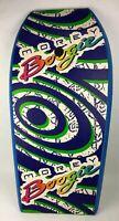 Vintage 1991 Morey Boogie Board Bodyboard Rare Full Graphic Logo 90's + Leash