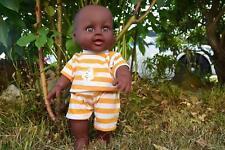 "12"" JASON AFRO AFRICAN BLACK SOUND BABY BOY NO GENDER DOLL 30CM"