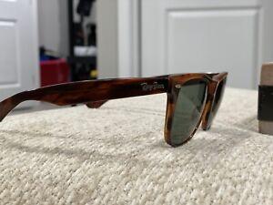 Vintage RAY-BAN WAYFARER II Bausch & Lomb B&L U.S.A. Tortoise Sunglasses Frames