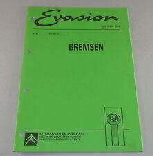 Taller de mano libro citroen evasion frenos stand 11/1994
