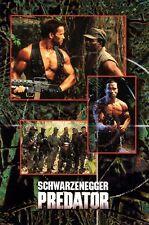 PREDATOR Movie Poster Arnold Schwarzenegger RARE Art Wall 24X32 Inch