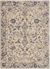 5' x 8' Karastan Machine Woven Area Rug Nolita Indigo Antique White Alabaster