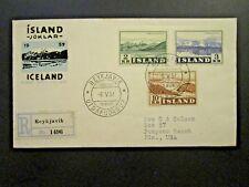 Iceland SC# 302 - 304 Glacier Series on 1957 FDC - Z4664