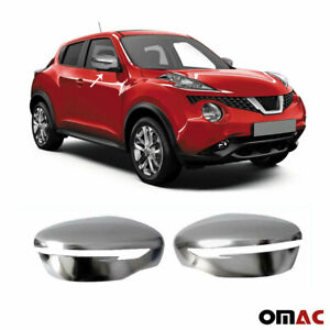 Fits Nissan Juke 2015-2017 Satin Chrome Side Mirror Cover Cap 2 Pcs