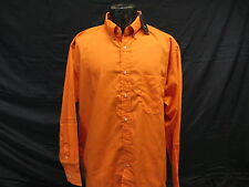 Blue Generation Strain Release Orange Dress Shirt Button Down NEW w tags sz L