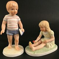 FRANCES HOOK FIGURINES FOR A MOTHERS LOVE BOY & GIRL MEXICO VINTAGE 1983 SIGNED