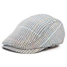 Classic Vintage Plaid Mens Gatsby Cap Newsboy Ivy Hat Summer Winter Golf Cabbie