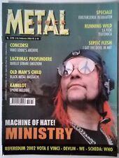 METAL SHOCK N°376/2003 MINISTRY OLD MAN'S CHILD LACRIMAS PROFUNDERE KAMELOT