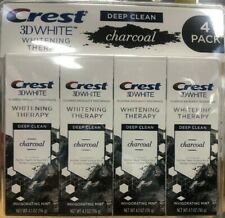 Crest 3D 4 PACK White Charcoal Toothpaste, 4.1oz Each, NEW