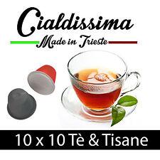 cialdissima 100 Capsule Compatibili Nespresso Tea Tè e Tisane in foglia naturale