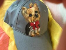 YORKIE HAND PAINTED CAP HAT