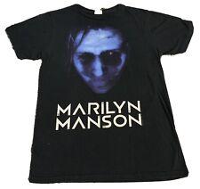 Marilyn Manson Blue Face Shirt Rare Goth Industrial Nine Inch Nails Medium M