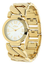 s.Oliver Damen Armbanduhr gold SO-15126-MQR